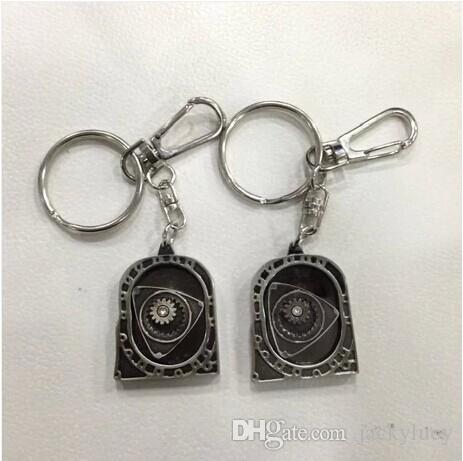 New HOT Spinning Rotor Keychain Creative Car Auto Parts Model Engine Rotary Keyring Key Ring Chain Keychain Keyfob