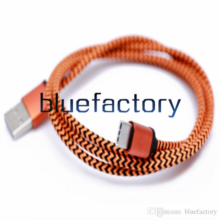 1M 2M 3M Universal Micro USB 3.1 Type C Cable Data Sync Charging Cable Braided Nylon Cord For Nokia N1 Macbook 2 ZUK Z1 xiaomi 4c MX5 Pro