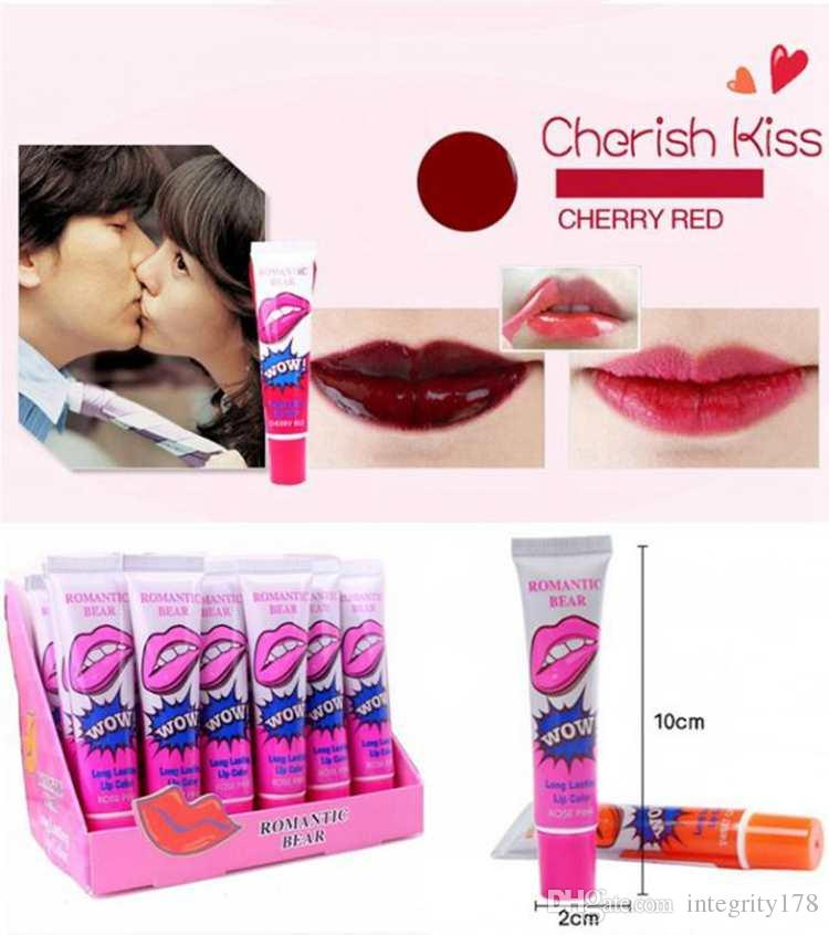 Lip Gloss Peel-off Lasts For 24h No Stain Marine Collagen Lipstick Balm Plant Romantic Bear Makeup Moisturizing Lip Mask