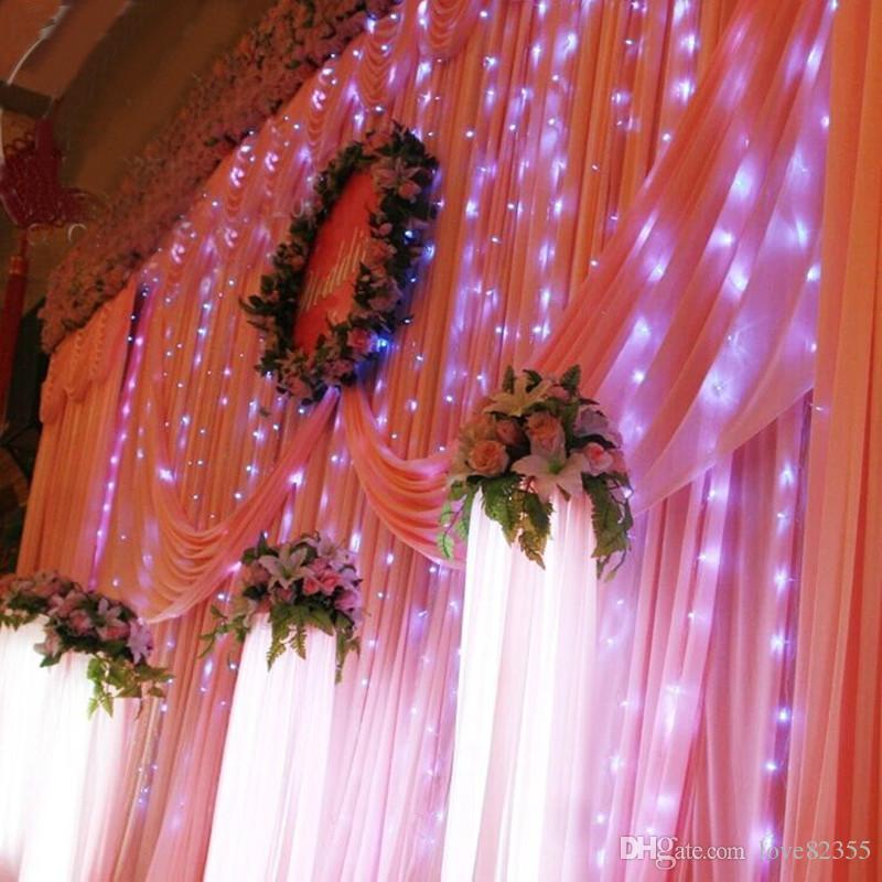 gros lumières de Noël chaîne mariage LED festival de lumière. Décoration de jardin. 4m x 3m 400 LED lampe rideau 2pièce