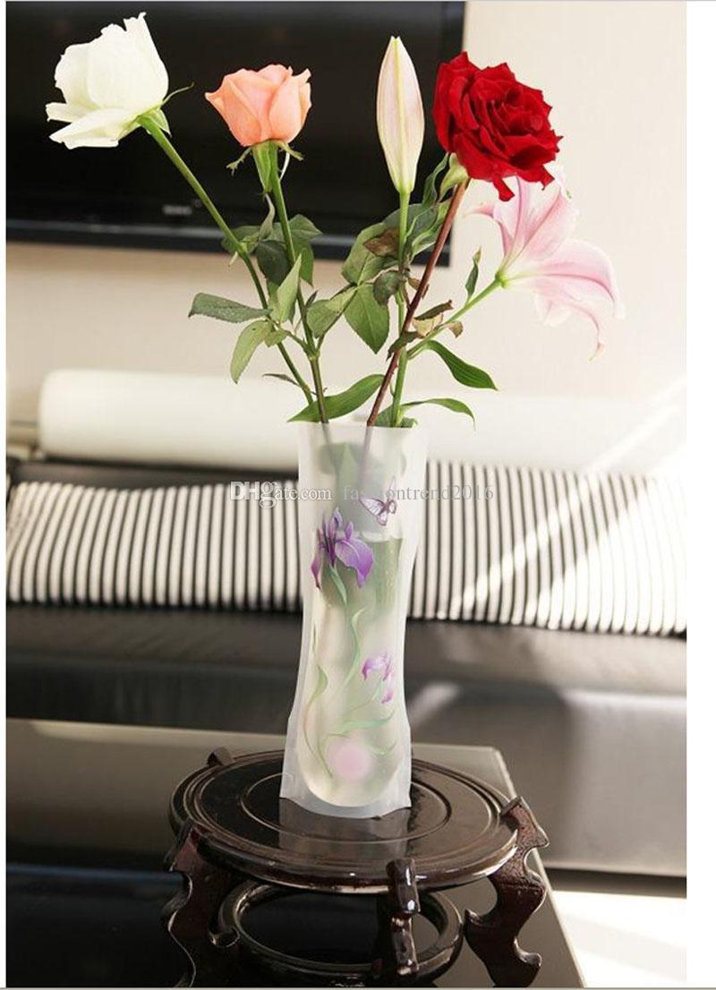12 * 27 سنتيمتر طوي زهرة pvc زهرية قابلة للكسر reusable زهرية المنزل الجدول حفل زفاف الديكور dhlfex الشحن مجانا