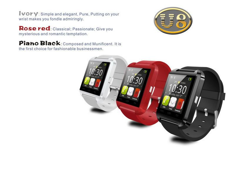 Smartwatch Bluetooth Smart Watch U8 WristWatch digital sport watches for IOS Android Samsung phone Wearable Electronic Device JBD-U8
