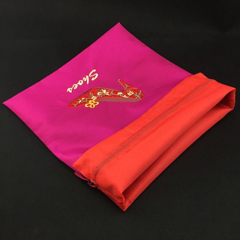 Высокого класса вышитые бахилы женщины путешествия сумки для хранения двухъярусные многоразовые шнурок шелковые ткани завод специи подарочная упаковка мешочки смешать цвет