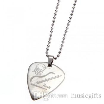 Wholesale guitar pick pendant necklace chain metal for electric wholesale guitar pick pendant necklace chain metal for electric guitar bass music aquamarine pendant necklace heart pendants necklaces from musicgifts aloadofball Choice Image