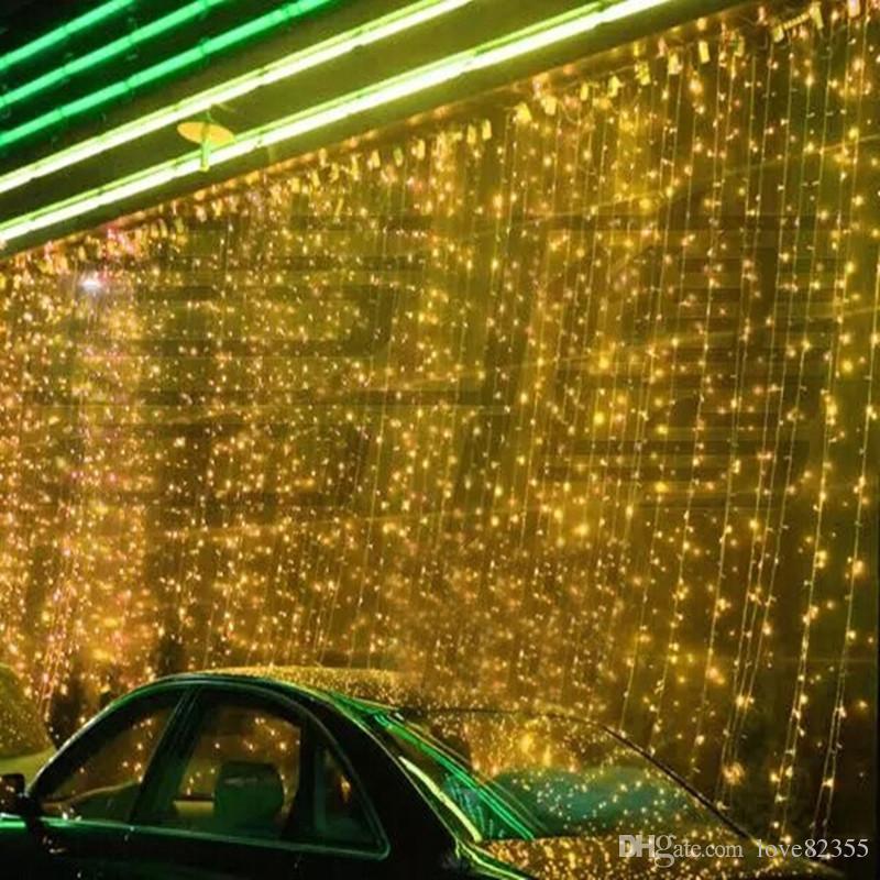 8 플래시 모드 4mx 5m 640 LED 조명 레인 LED 문자열 램프 커튼 요정 크리스마스 정원 결혼식 축제 조명 효과 전구