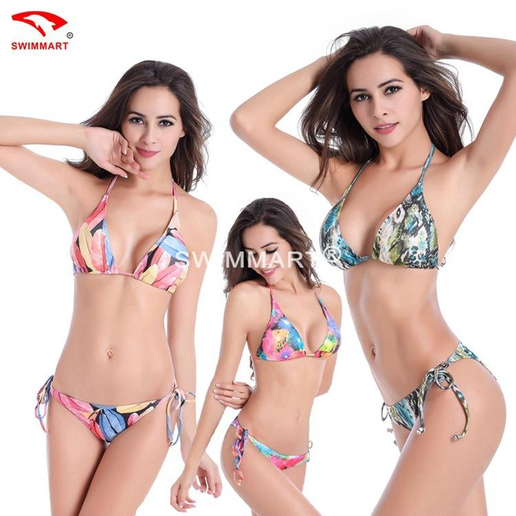 Großhandel Swimwear Womens Push Up Neopren Häkeln Triangle Bikini ...