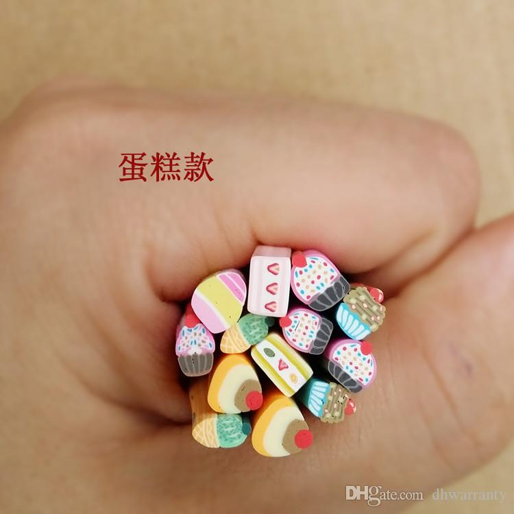 Cute Nail Art Stickers 10syles Nail Art Canes Stickers Rod Fimo