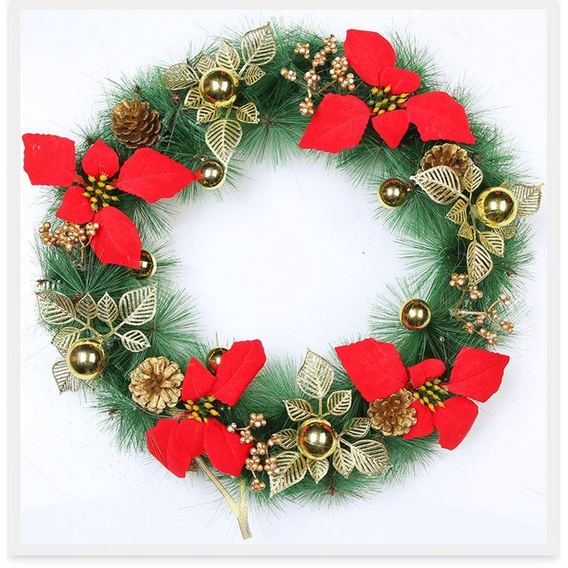 new year for christmas christmas decoration for home artificial flowers rattan fake plants christmas door wreath christmas greenery decora christmas - Christmas Greenery Wholesale