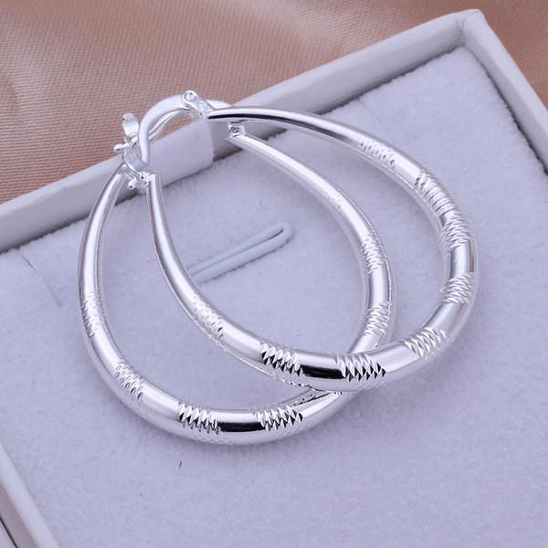 Brand new sterling silver plate Small earrings E294- DFMSE294,women's 925 silver Dangle Chandelier earrings a factory direct