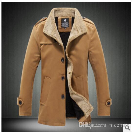Automne Hommes Acheter Marque Hiver Laine Manteau Et Mode De Slim X8P0wknO