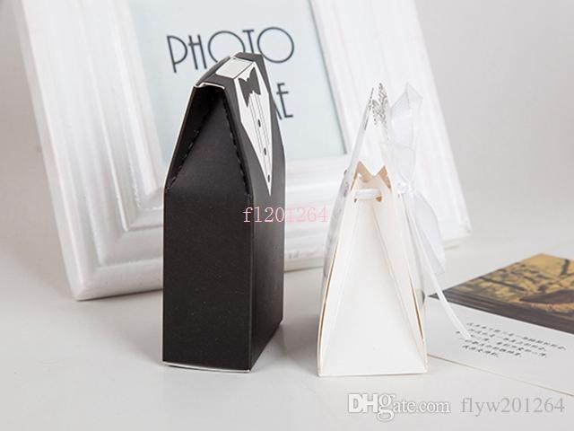 Fedex DHL Бесплатная доставка Новейшая мода Жених и невеста коробка Свадебные подарочные коробки Подарочная коробка коробка конфет, 1000 шт. / Лот = 500 пар