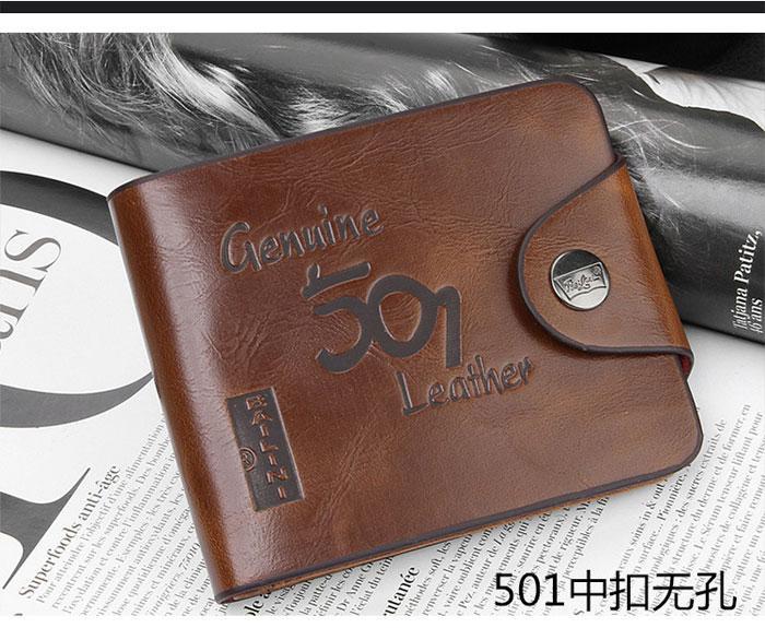 工場価格春新しいヴィンテージメンズ財布ファインビフォールドブラウンレザーお金財布財布d826-73