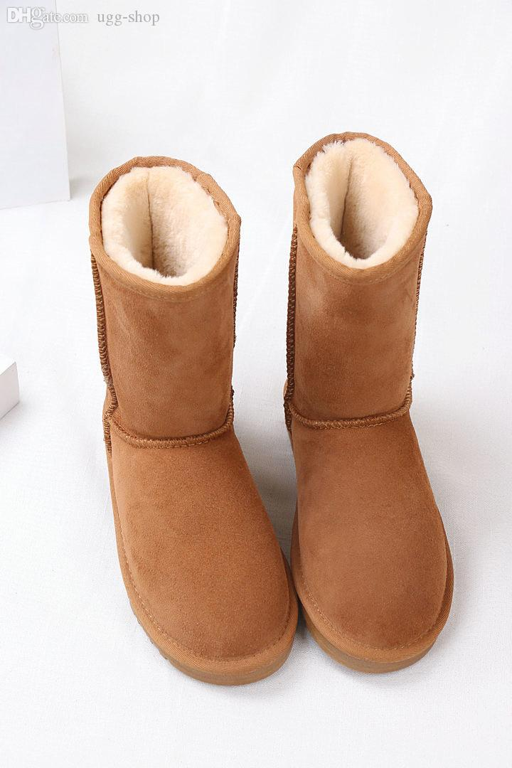 62daee2c5b0 Fashion classic Short snow boot high quality 2018 new fashion Australian  classic Short winter boots leather boots female boots