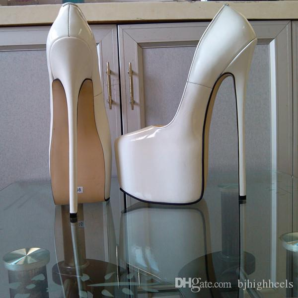 b895420c512d 25CM Heel Height Sexy PU Pointed Toe Stiletto Heel Pumps Party Shoes ...