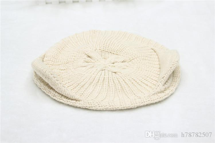 DHL Hot sale Beanies Woolen Knitted Hat Korean fashion orecchiette knitting wool hat Winter Warm Hats For Women