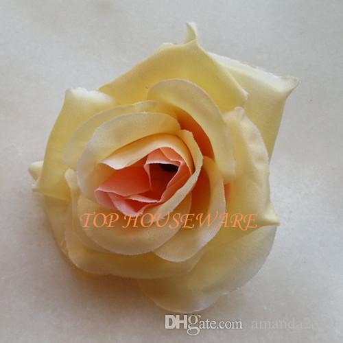 8.5cm Artificial Silk Rose Flower Head Rose Flower Ball Heads Brooch Wedding Wall Arch DecorativeFlower