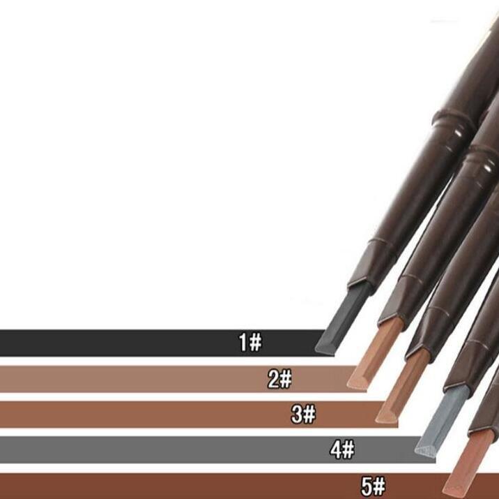Förderung-doppelter vorangegangener automatischer Drehaugen-Augenbrauen-Bleistift-wasserdichter Augenbrauen-Vergrößerer zwei Ende mit dem Formungs-Bürsten-Verfassungs-Schönheits-Werkzeug 5 Farben