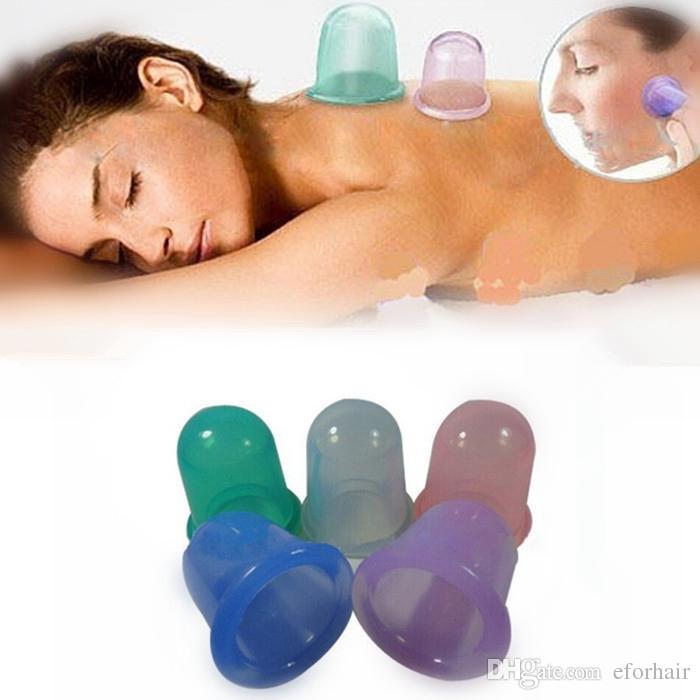 2017 Silicone Massage Vacuum Body Cups Set Anti Cellulite