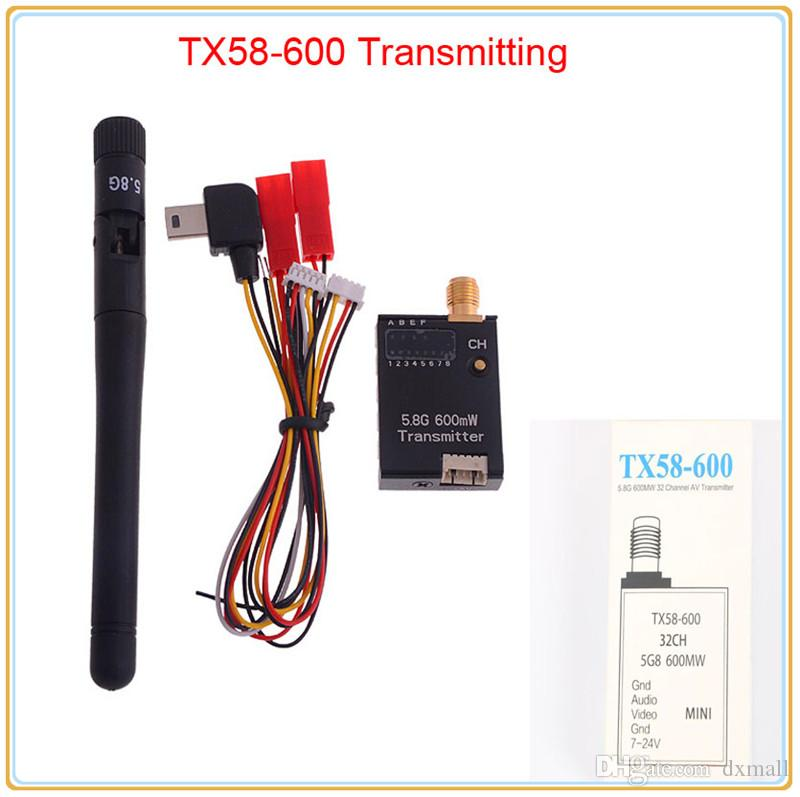 2019 online new fpv 5 8ghz 600mw 32 channels mini wireless a/v transmitting  tx module ts58 600 rp sma for 5 8g receiver dji gopro from dxmall,