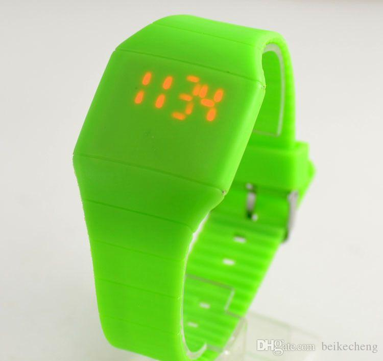 Wholesale Mix touch led watch Silicone bands rubber fashion sport watches LT009
