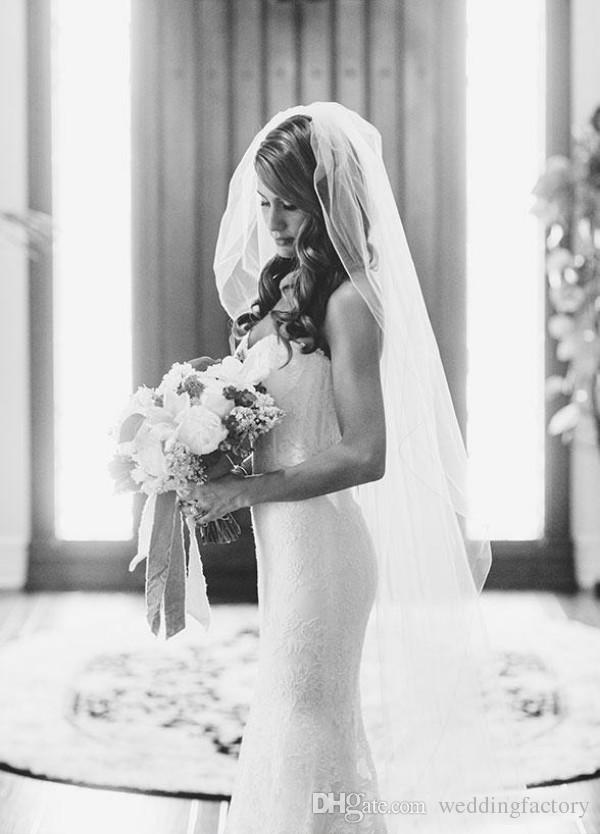 Splendida colonna di pizzo Abito da sposa Guaina Giardino Abiti da sposa innamorati Sweetheart Senza maniche Boned Lunghi Abiti da ricevimento formale spose
