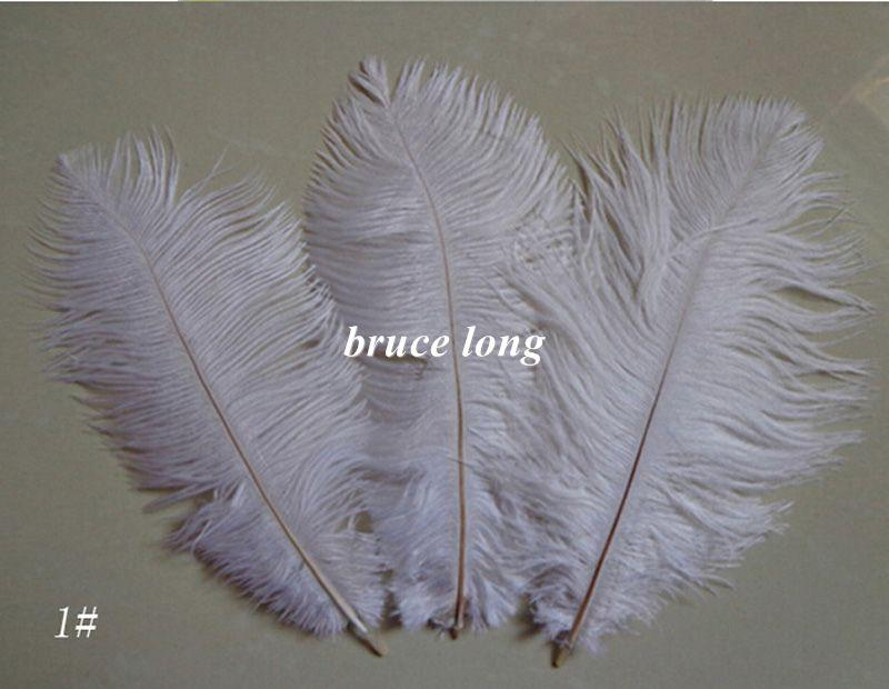 Couleur personnalisée blanc noir rouge orange jaune vert plumes d'autruche plumes bricolage plume trim boa chapeau de fête de mariage masque décor 6-8inch 15-20cm