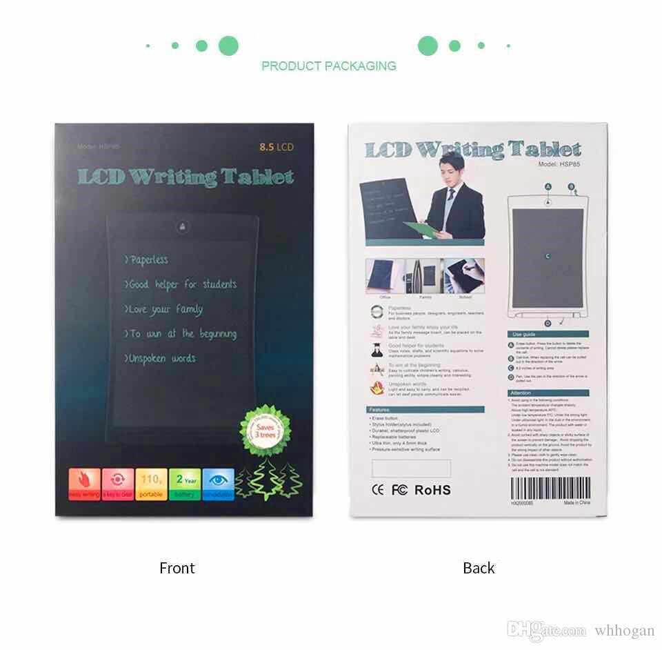 Tavoletta LCD scrittura digitale Tavoletta digitale tablet da 8 pollici con disegno a mano Tavoletta elettronica da tavolo adulti Bambini Bambini