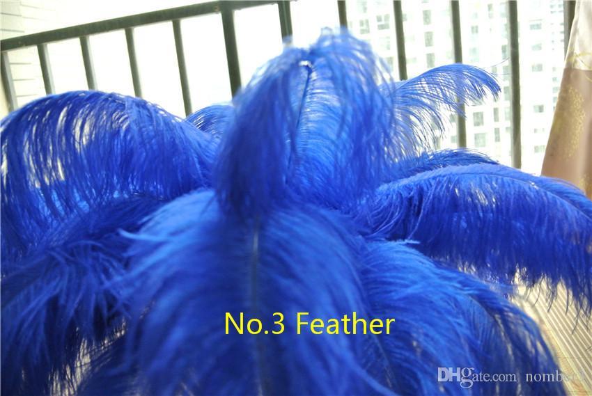Venta al por mayor 100 uncs Royal azul pluma de avestruz para la boda centro de mesa de mesa decoración de la boda decoración de la pluma