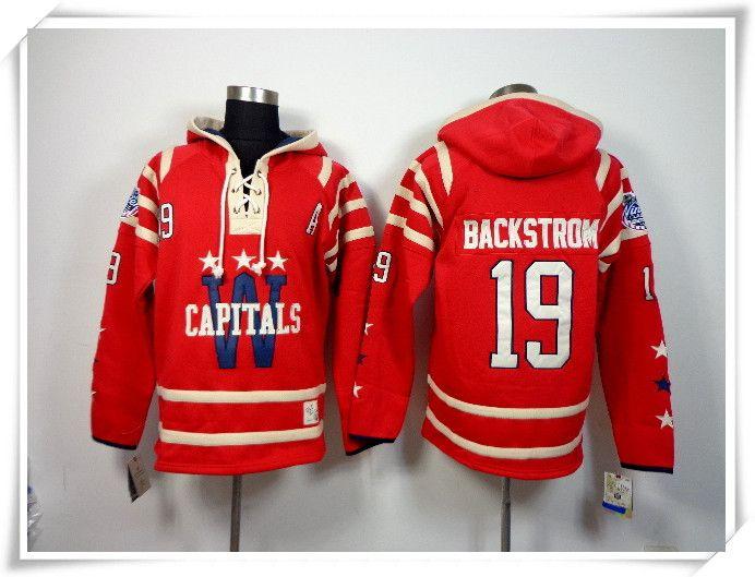 wholesale dealer de84c e89bf ICE Hockey Hoodies Jerseys Men Capitals #19 Backstrom RED Winter classic  Best quality stitching Jerseys Sports jersey Mix Order