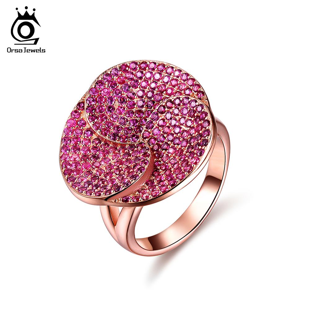 2018 Orsa Jewels Fashion Luxury Lead&Nickel Free Ring Rose Gold ...