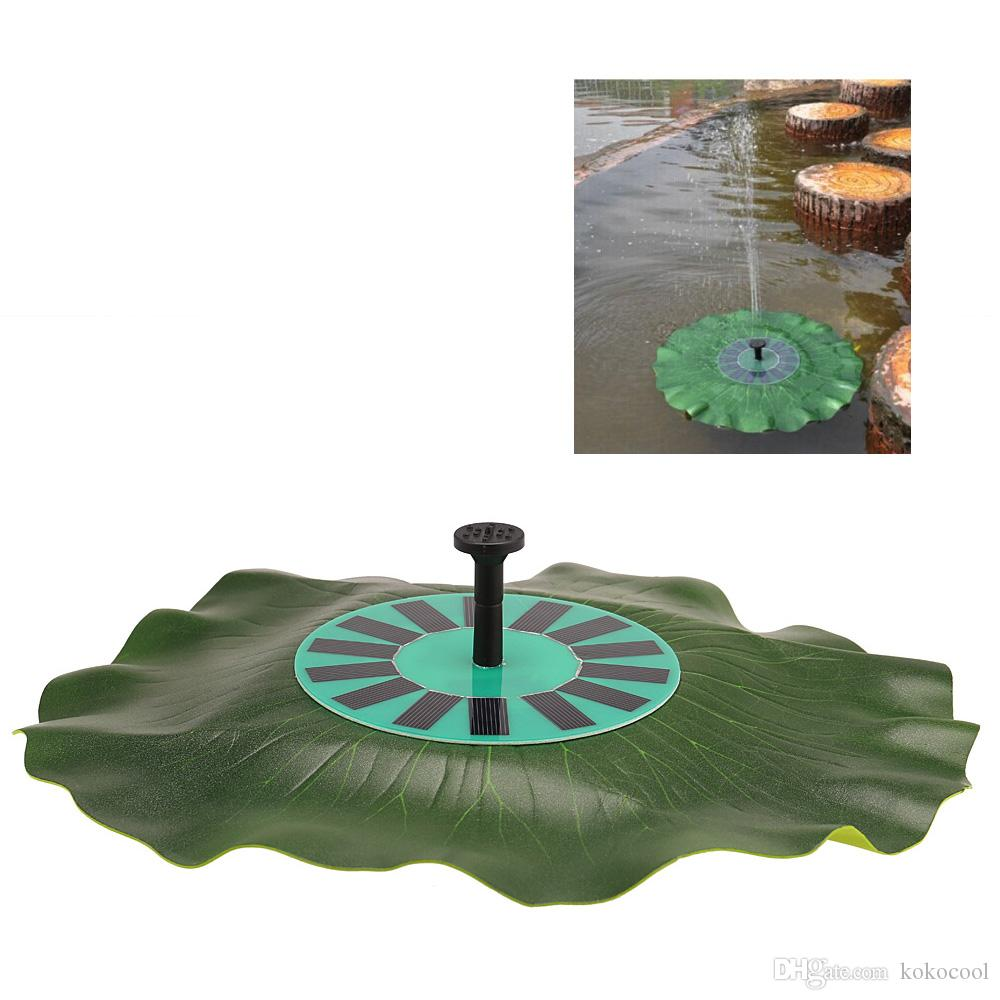 Solar Panel Fountain: 2019 Solar Power Lotus Leaf Fountain Floating Brushless