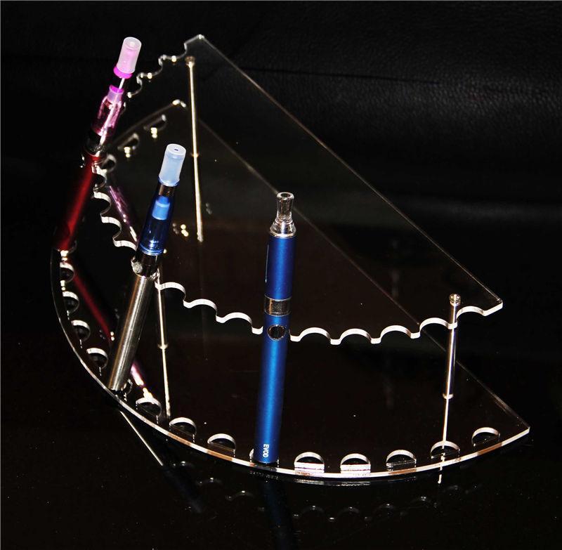 Suporte Stands Ecig Arc Curve Acrílico Vape Display Racks Limpar Showcase Suporte Evod Mini Ego One Vision Seco Erva Cera Vaporizador Pen Frame
