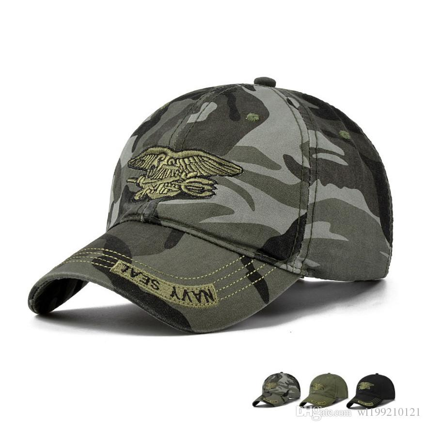 High Quality Camo Baseball Cap Men Camouflage Navy Seal Tactical Cap Mens  Hats And Caps Bone Army Snapback For Adult Flexfit Cap Ny Caps From  Wl199210121 f1a96b0234d