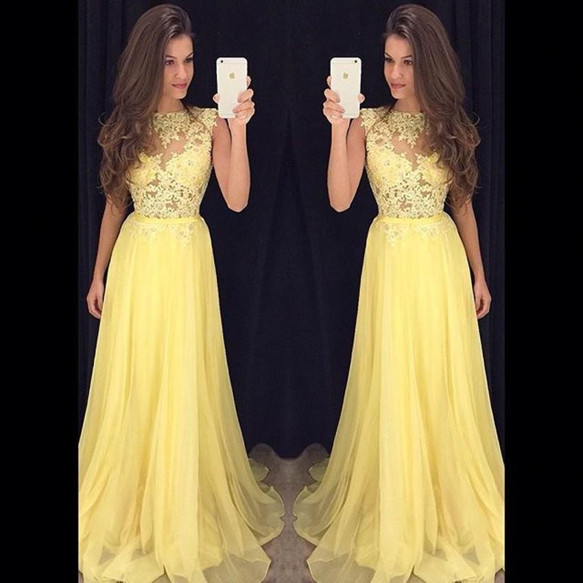 Vestidos color amarillo para fiesta