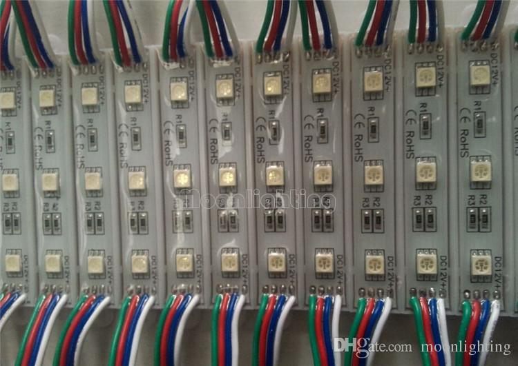 DHL Free Backlight Módulo De Led Para Billboard LED módulos de sinal de luz da lâmpada de Natal 5050 3 LED RGB Verde Vermelho Azul Branco Quente À Prova D 'Água DC 12 V