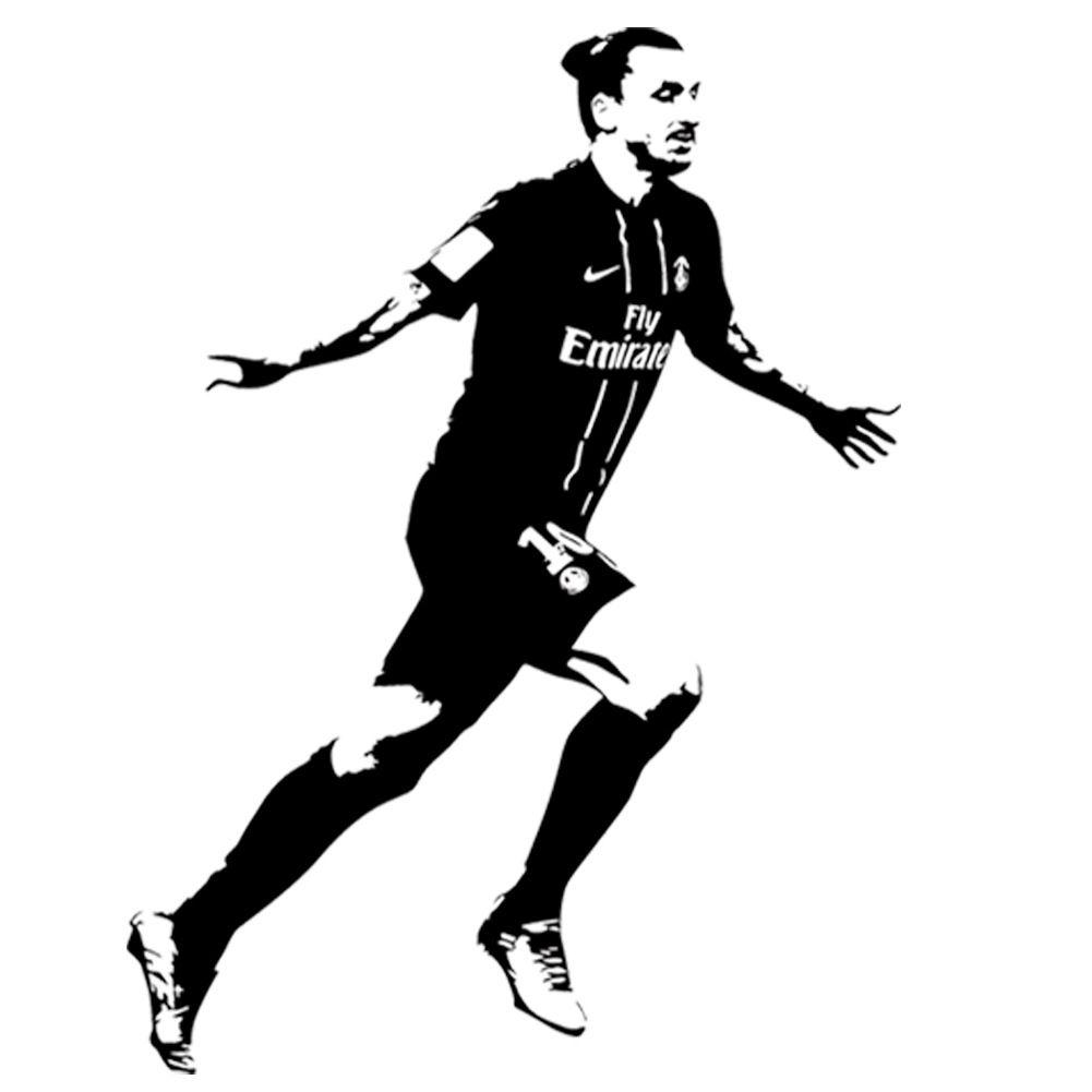 Mit Filigran geschmückte Fußball-Wand-Aufkleber-Wand-Kunst-Aufkleber Sustom Name können Ihr eigenes Namenshauptdekor Zlatan Ibrahimovic besonders anfertigen