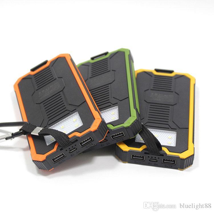 20000mAh Novel solar Power Bank Highlight LED Solar Power Banks 2A Output Cell Phone Portable Charger Solar Powerbank371644230
