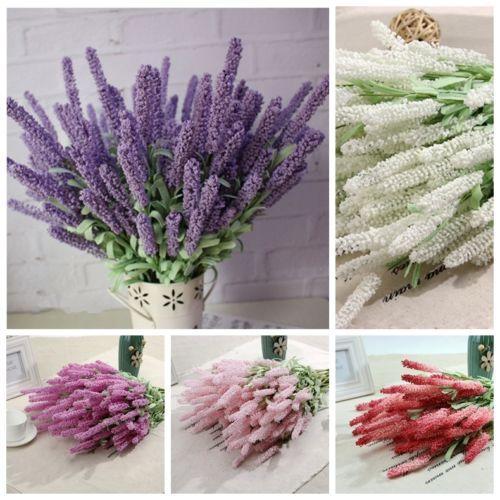 1 Bouquet Artificial Lavender Silk Flower Bridal Bouquets For ...