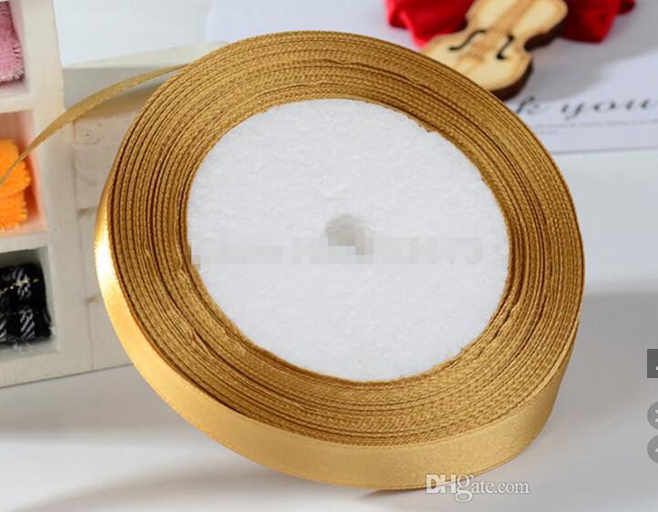 "1/2"" 13mm White Single Face Satin Ribbons Wedding Decoration Ribbon Tape 500yards /Gift packaging"