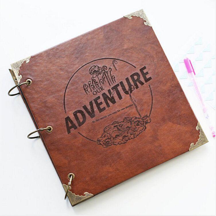 Our Adventure Book Photo Album Leather Scrapbook Album