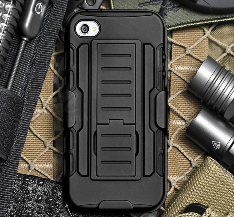 Armor Hybrid Dual Layer Holster Case for iPhone 6 6Plus 5s 4s Kickstand &Locking Belt Clip Cover for Samsung S3 S4 S5 Note4 Note3 Note2