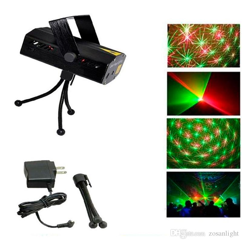 150MW Led 미니 레이저 무대 조명 LED 레이저 DJ 파티 무대 조명 블랙 삼각대 댄스 플로어 조명