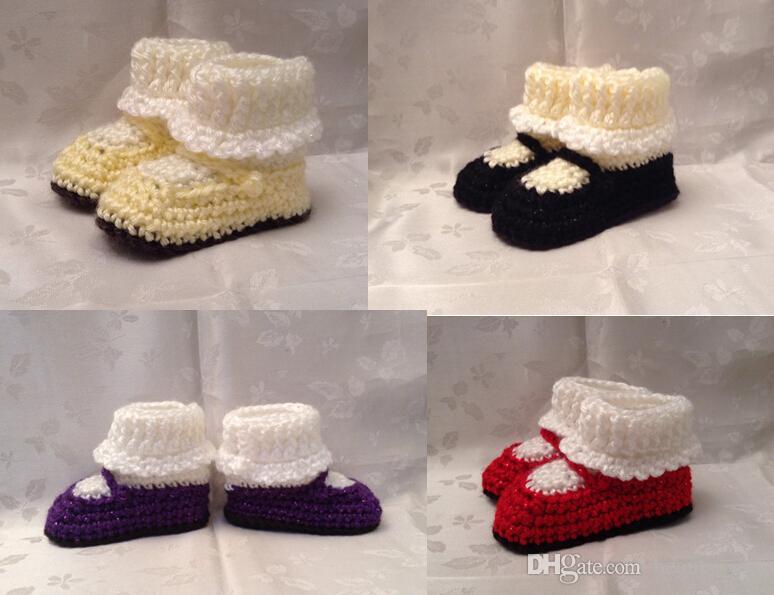 Compre Outlets! Botines De Niñas De Crochet, Zapatos De Niño Suave ...