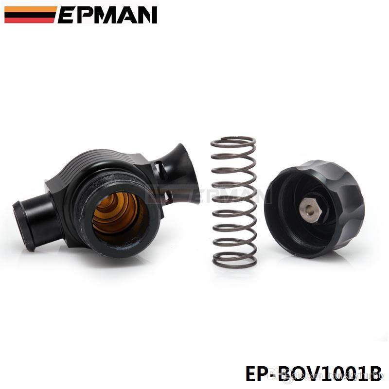 EPMAN 높은 품질 25mm 범용 듀얼 포트 블로우 오프 밸브 BLACK 분배기 밸브 밸브 EP-BOV1001B 덤프