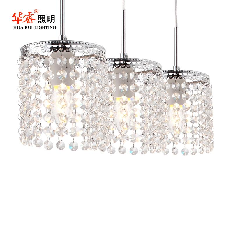 Discount Modern Crystal Chain Vintage Pendant Light Fixture Chandelier Lights Decoration Dining Room Lighting Fashion Cafe Lamp House Foyer