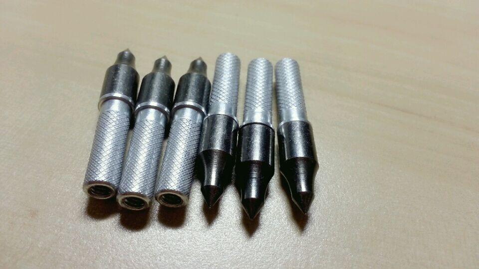 tiro con l'arco da caccia punti freccia in carbonio punte a freccia 100 grani con inserti a freccia diametro esterno 6.2mm