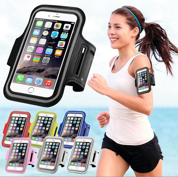 Armbands Running Sport Waterproof Phone Armband For Iphone 7 6 6s Plus Case For Samsung 4.7 5.7 Inch Universal Pu Mobile Phone Bag Shells