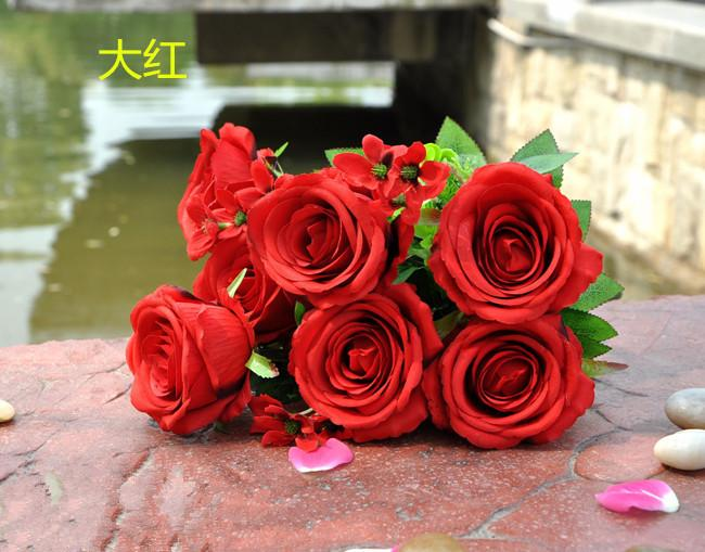2018 factory outlets rose to beam simulation silk flower artificial 2018 factory outlets rose to beam simulation silk flower artificial flower factory opened housewarming wedding with flowers from xwt5243 635 dhgate mightylinksfo
