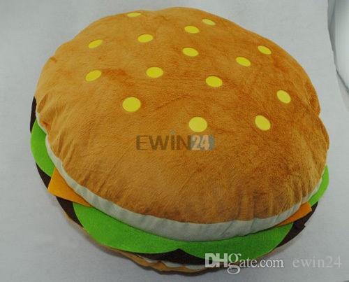 Heißer Verkauf! Kuschelkissen-weicher Plüsch-Hamburger-Kind-Spielzeug-Puppe King Burger-Auflage-Kissen-Kissen-freies Verschiffen
