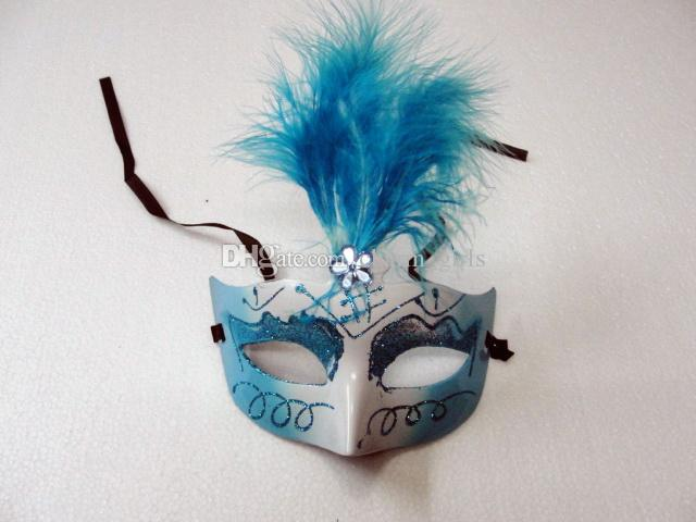 Lovely feather Rhinestone mask venetian masquerade party gift christmas decoration wedding favor novelty